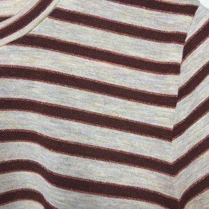 Madewell Tops - Madewell | Metallic Stripe Crewneck Tee